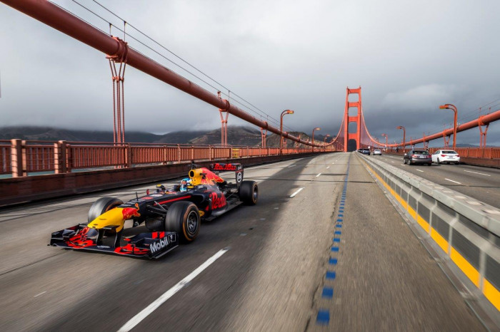 Red Bull Takes its F1 Car on a US Road-trip