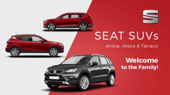 SEAT SUVs - Arona, Ateca and Tarraco - Welcome to the Family!