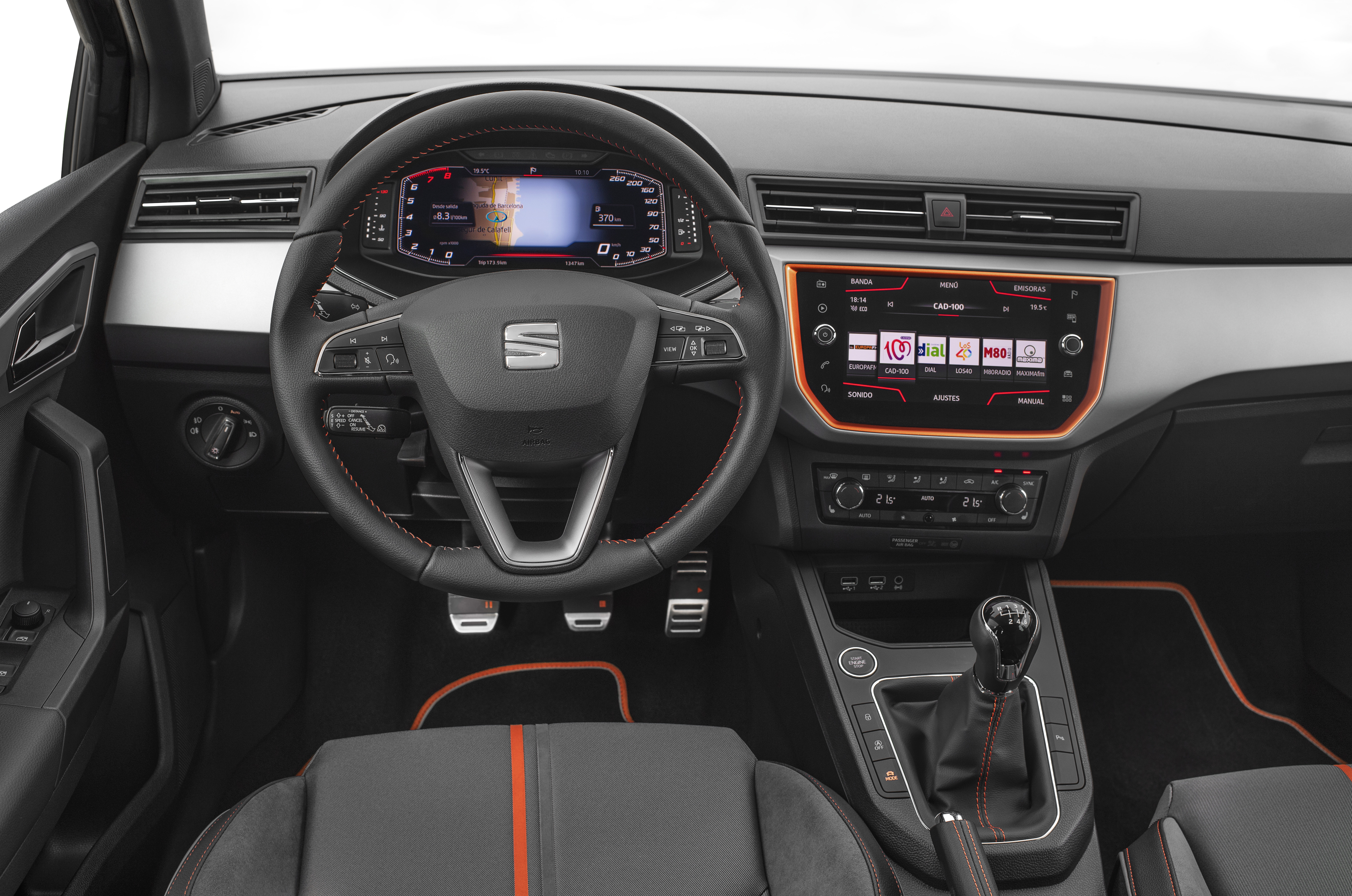 SEAT Ibiza interior including dashboard and digital cockpit