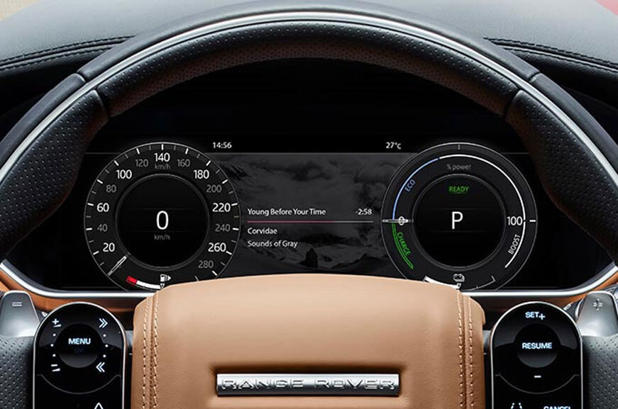 Range Rover steering wheel and dashboard